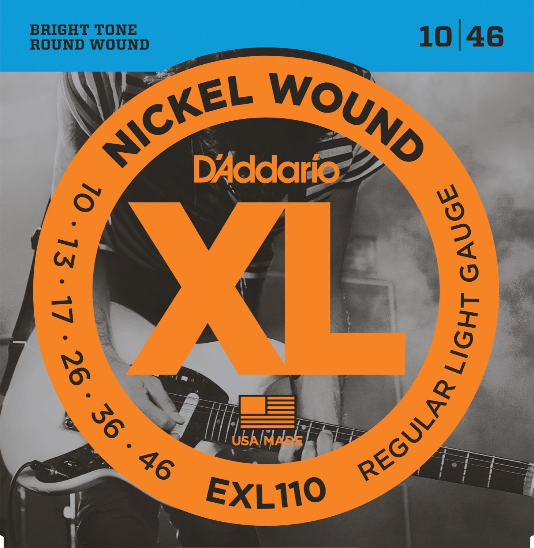 Daddario EXL110 XL Nickel Wound 10-46 Regular Light