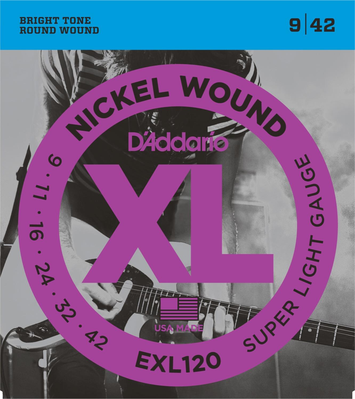 Daddario EXL120 XL Nickel Wound 09-42 Super Light