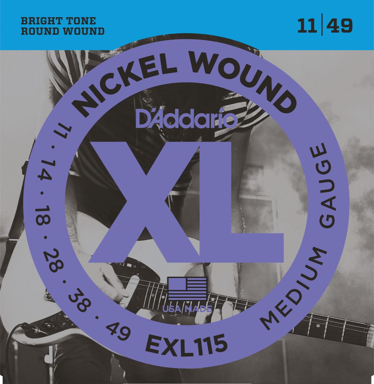 Daddario EXL115 XL Nickel Wound 11-49 Medium