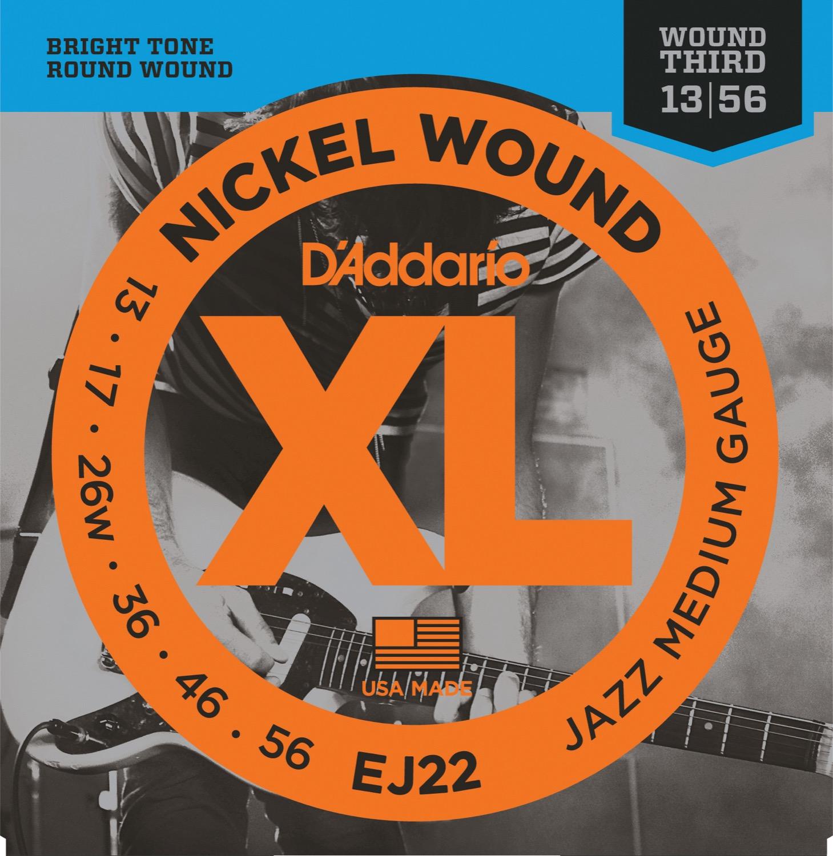 D'Addario EJ22 Nickel Wound 13-56 Jazz Medium