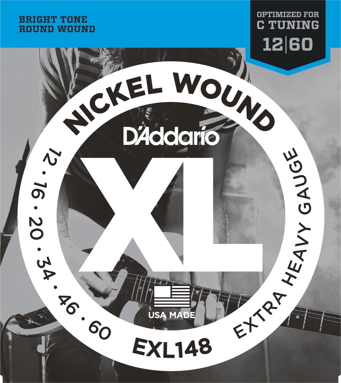 Daddario EXL148 XL Nickel Wound 12-60 Extra Heavy