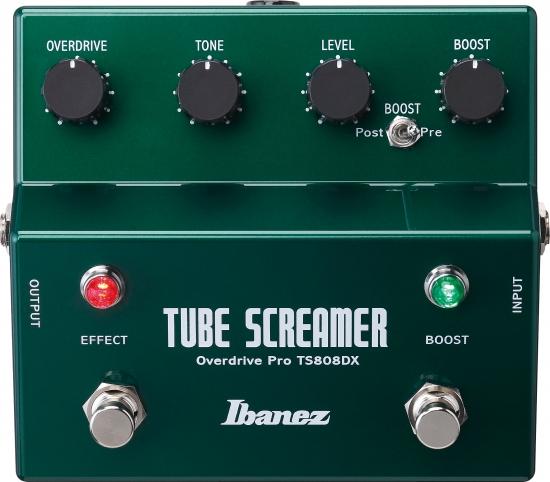 Ibanez TS808DX Tube Screamer Overdrive m. Boost