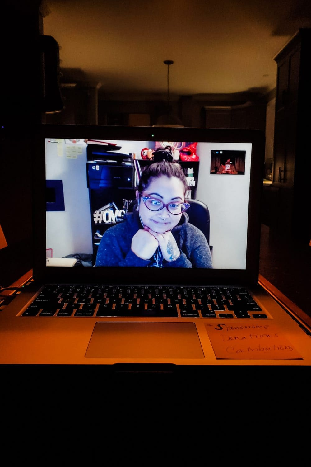 Photo of a video call screen with Beverley