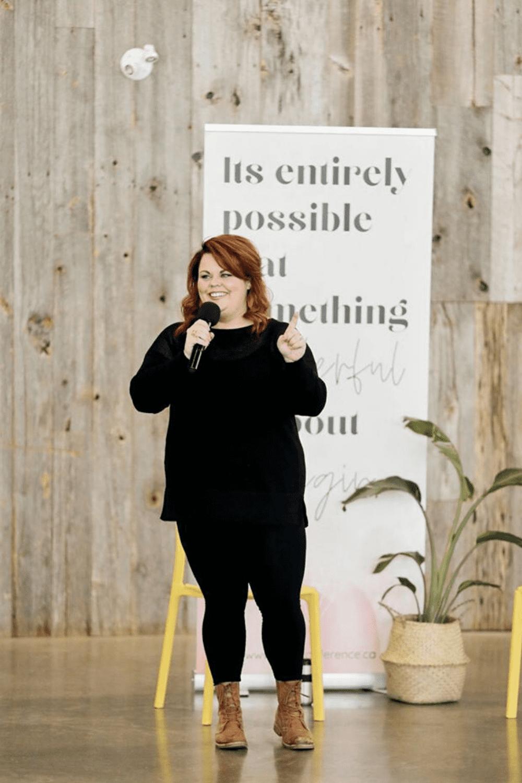 Karine Parthenais speaking at Gem Conference