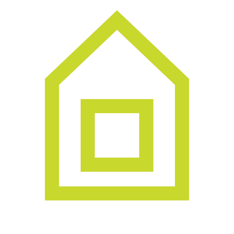 Haven Logo - Green house icon