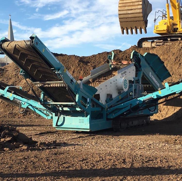 Machinery partner screener image soil processing