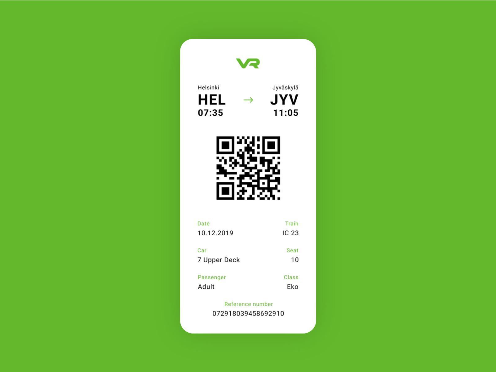 VR ticket mobile app