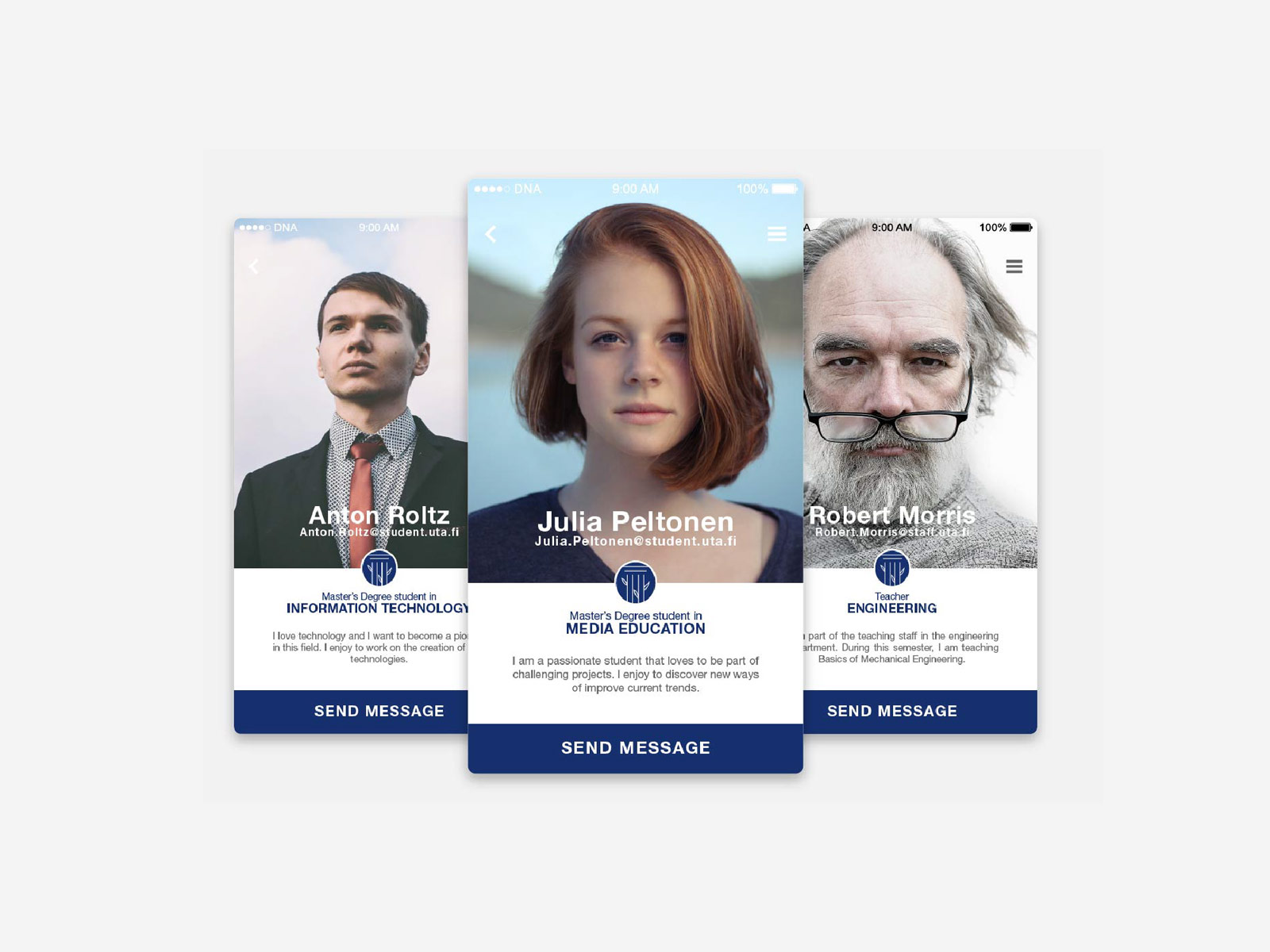 University of Tampere mobile application