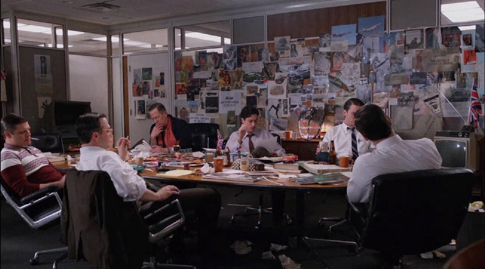 the mad men writers room