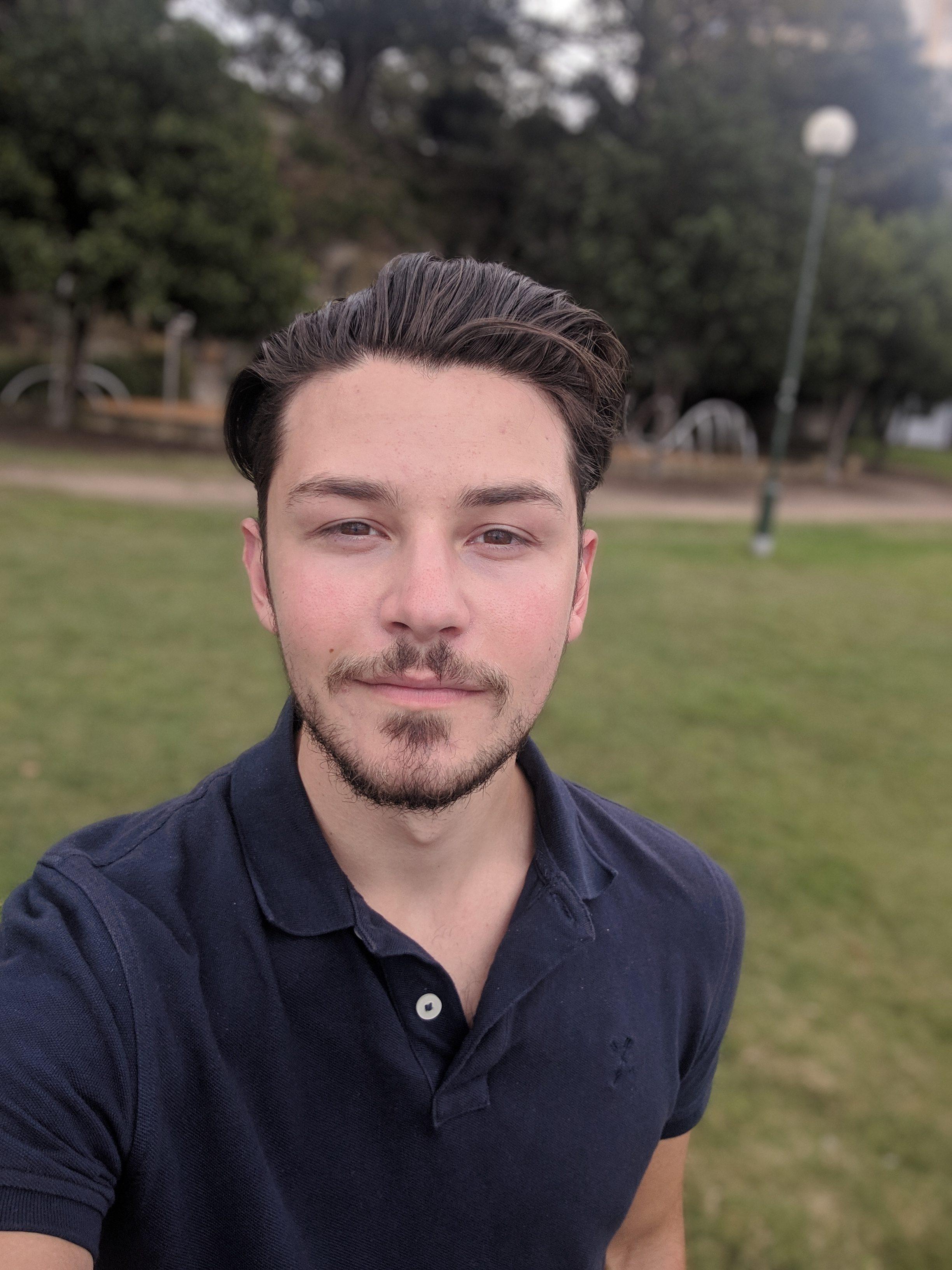 Selfie a guy in park
