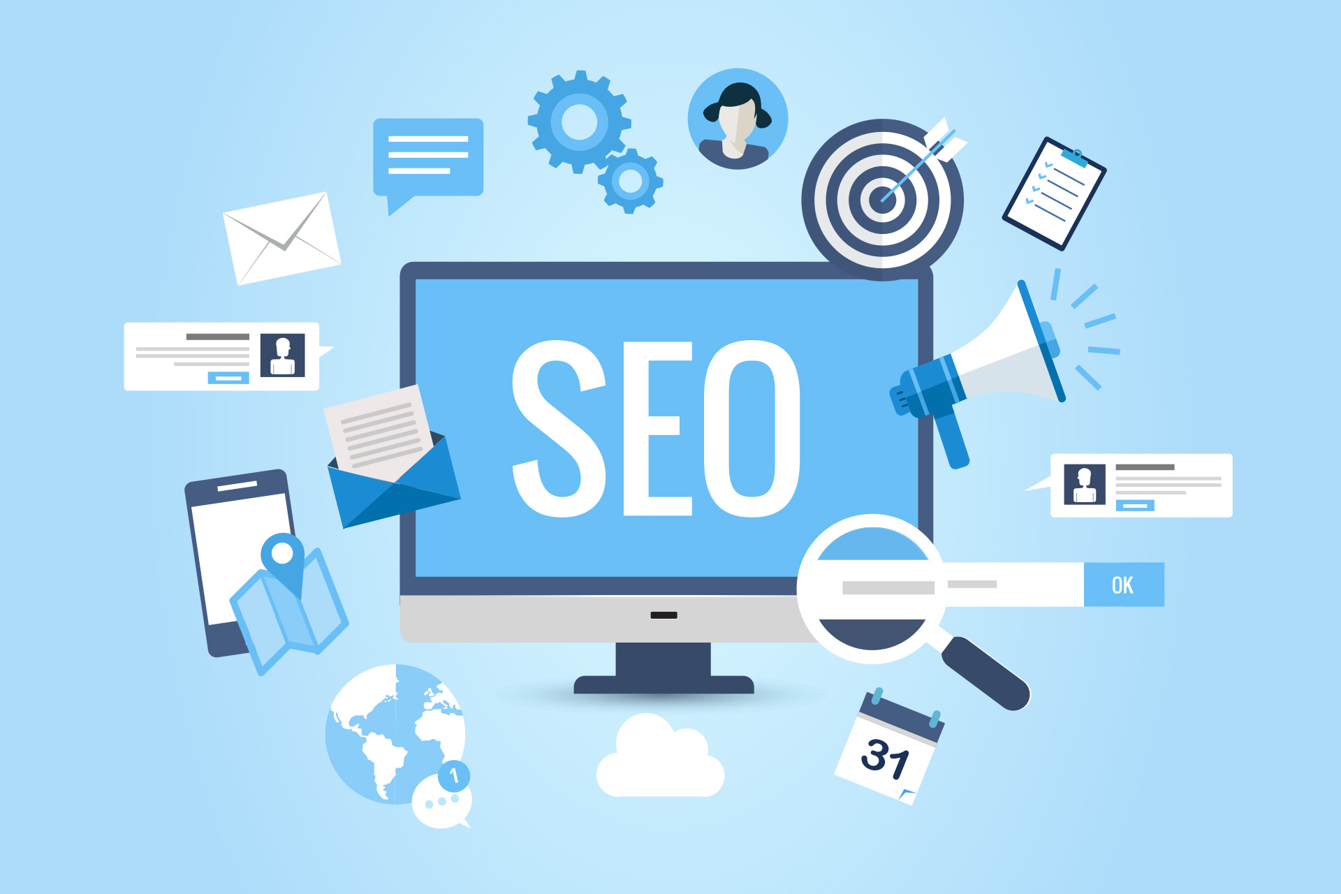 Illustration of SEO Works and its types and benefits eCommerce
