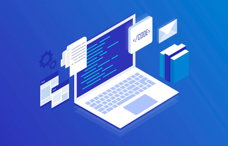 Illustration of Computer Programming and Coding Web Development