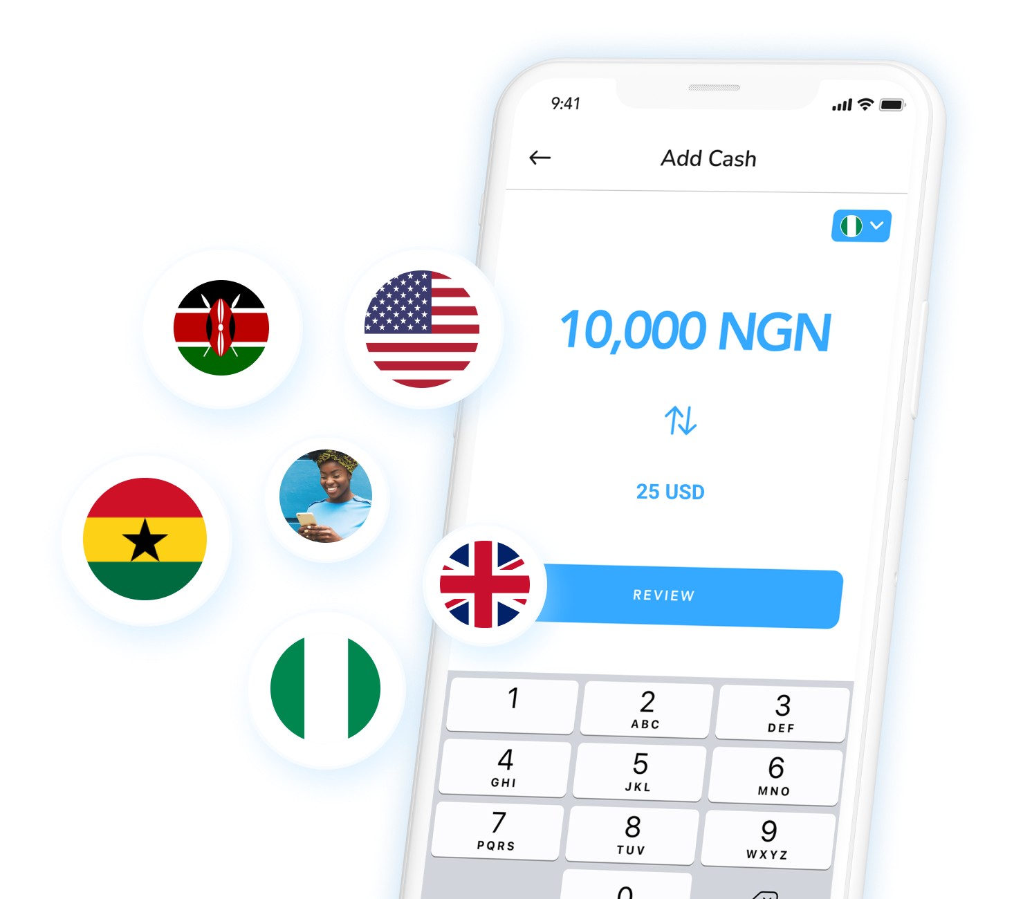 Send money to Africa or to anywhere in the world, with as little as a $5 deposit.