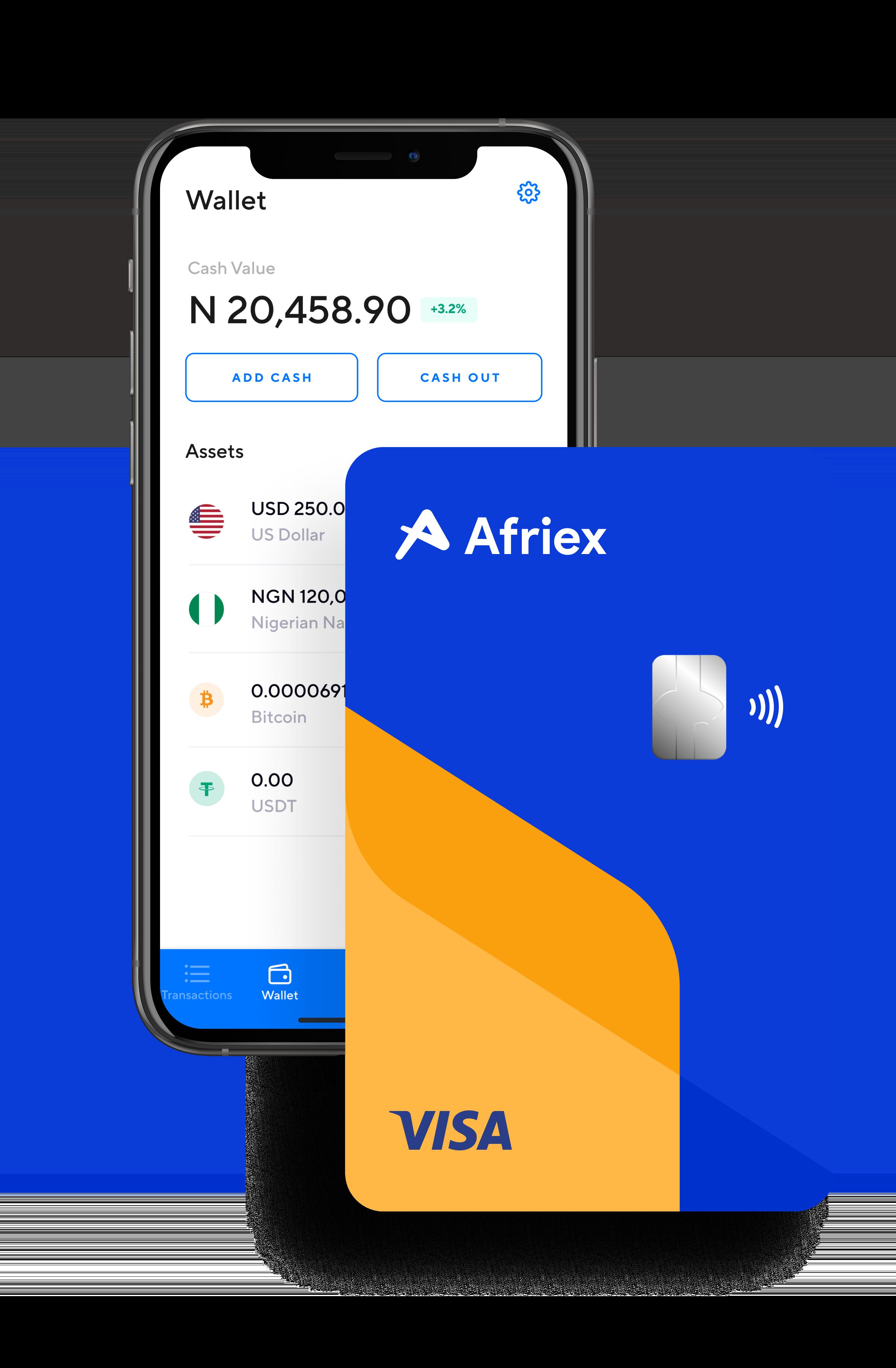 afriex app and visa card
