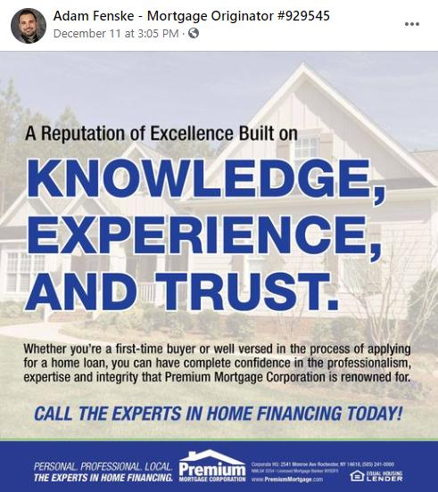 Facebook mortgage broker