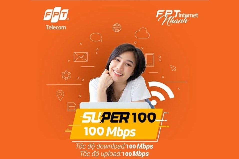 Super 100 - Gói Internet FPT Tốc Độ Cao Giá Rẻ Cực Hot