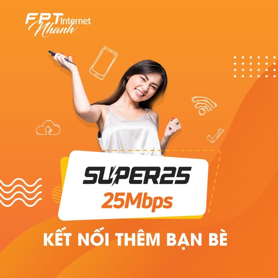 Super 25 - Gói Cước Internet FPT Có Giá Rẻ Nhất