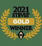 Badge for 2021 STEVIE GOLD Winner  - awarded to Typewise smartphone keyboard app