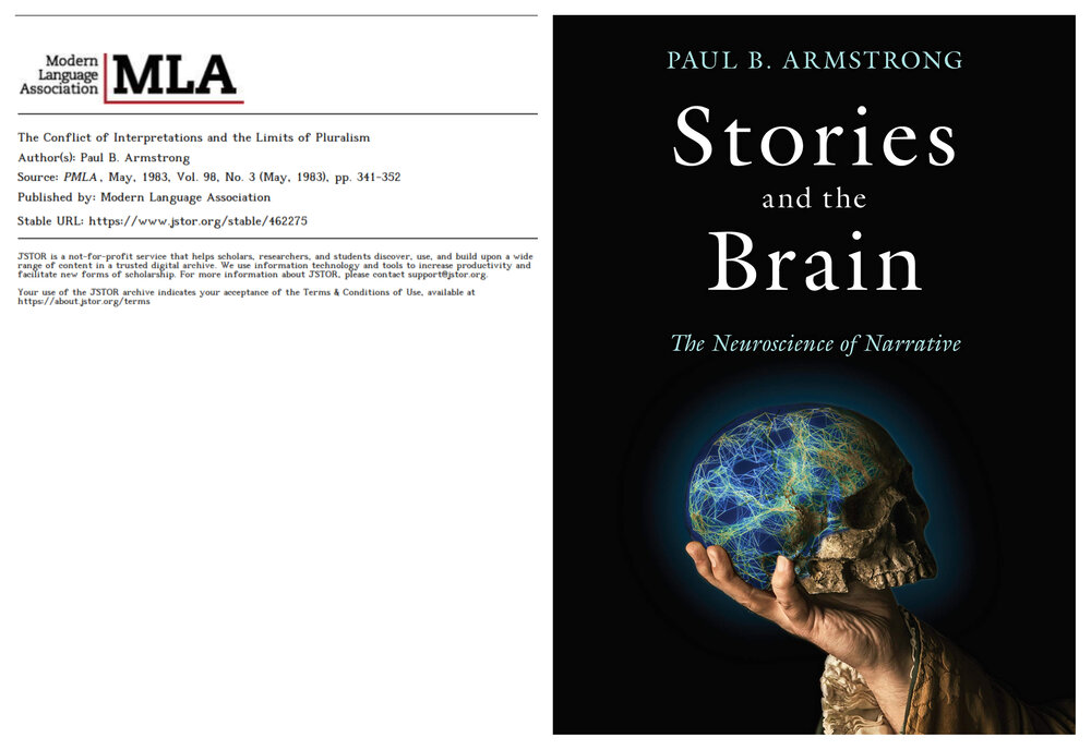 Book cover: Stories and the Brain . Image courtesy of the author.