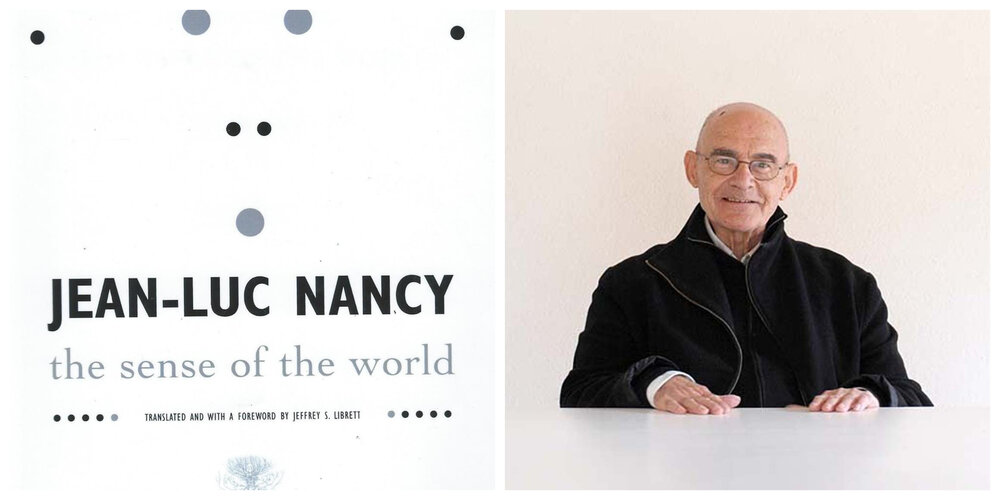 Book cover: The Sense of the World and Jean Luc Nancy. Image courtesy of the author.