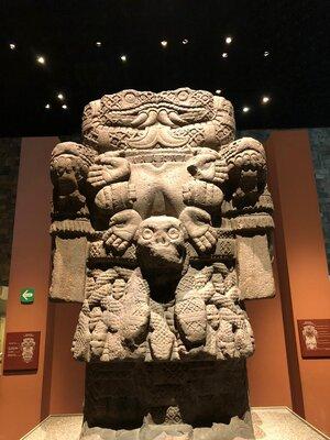 Coatlicue in the Museo Nacional de Antropología, Mexico City. Photo by Jocelyn Holmes
