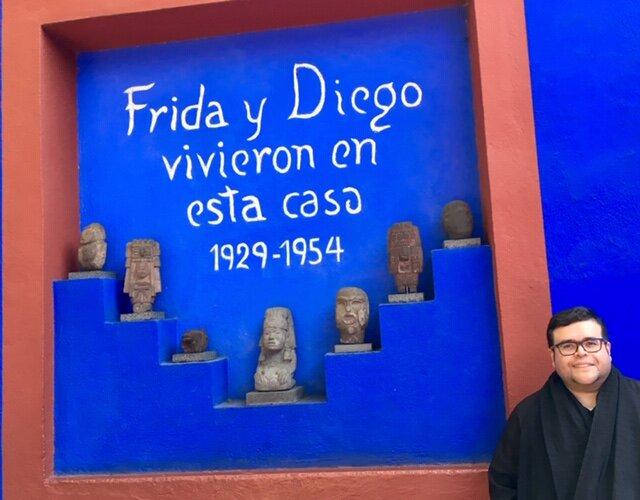 The author, Hector Garza at Casa Azul. January 2020. Photo courtesy of Hector Garza