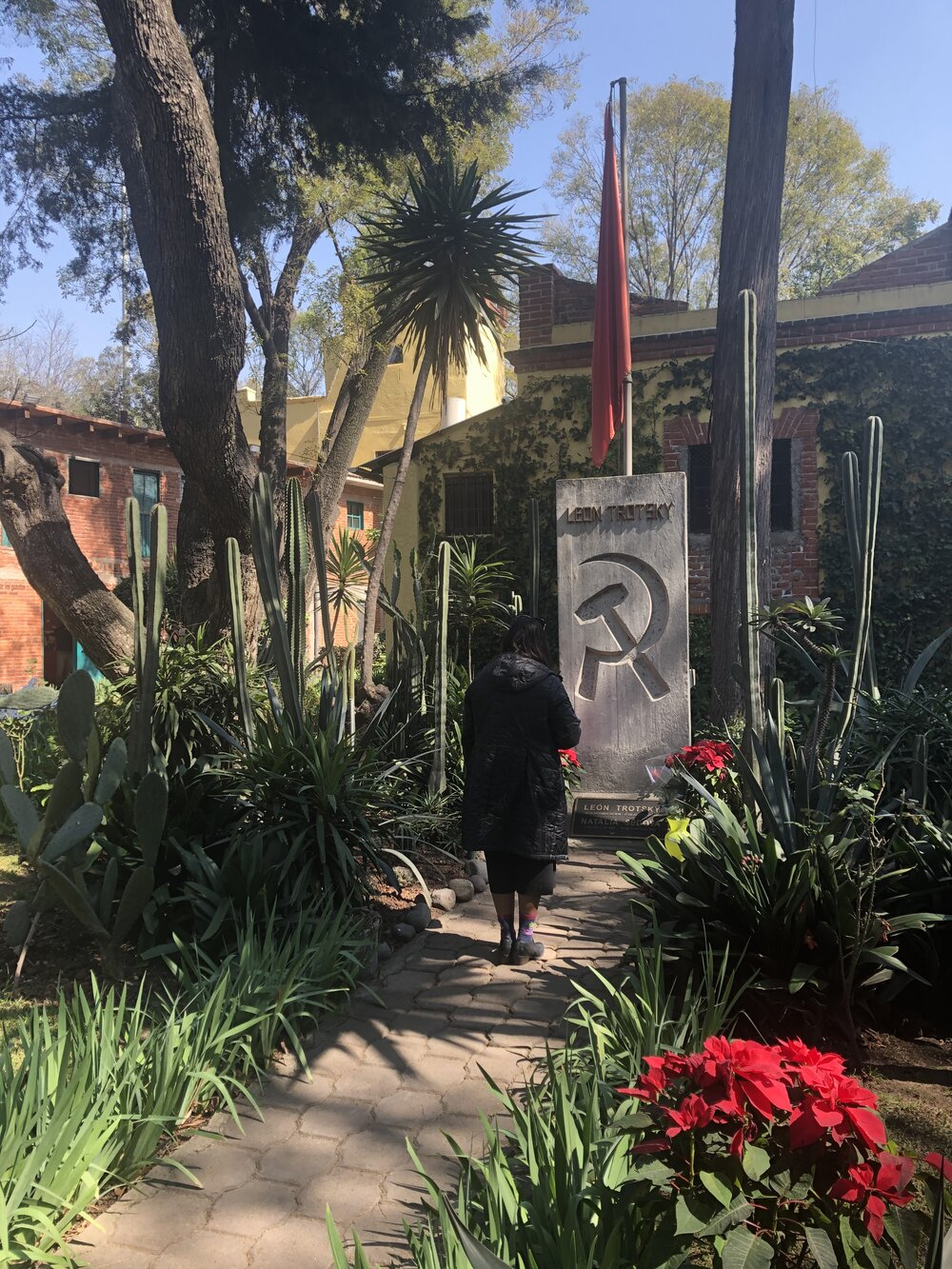 In the courtyard of the Trotsky House. Mexico City, January 2020. Photo by Molly Davis