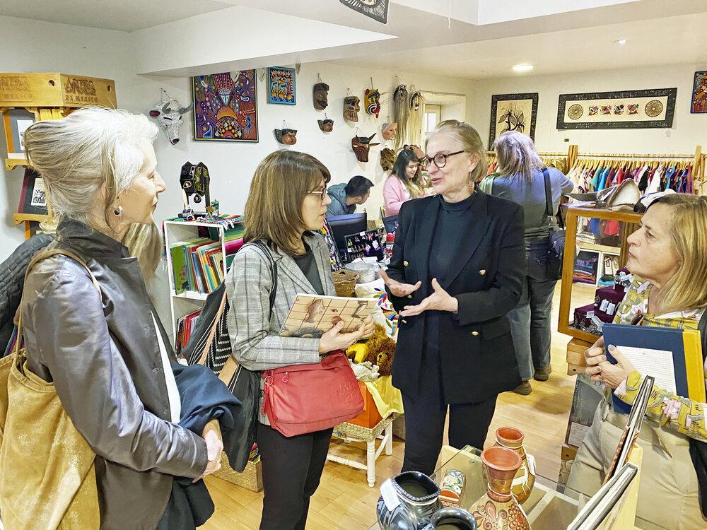From L to R: Artist Jill Moser, Simonetta Moro, Margarita de Orellana, and Giuliana Bruno. Photo by Sam Kochansky