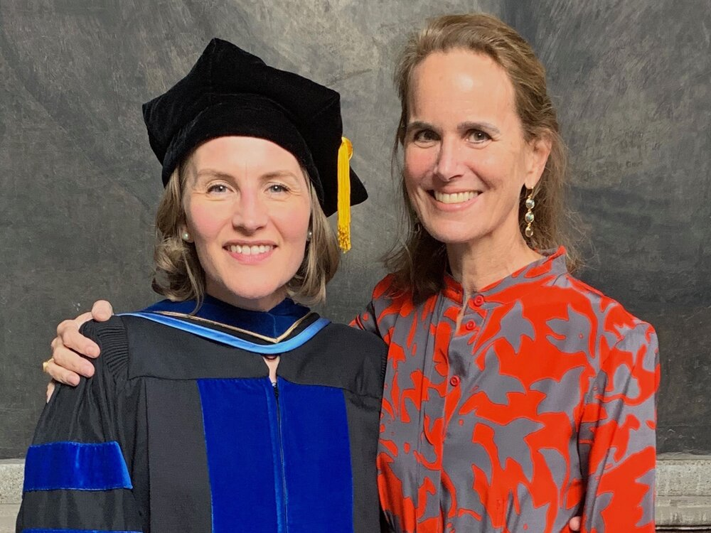 A newly minted Dr. Christina A. Barber with Dr. Louise Carrie Wales in Mexico City in January. Photo courtesy of Louise Carrie Wales.