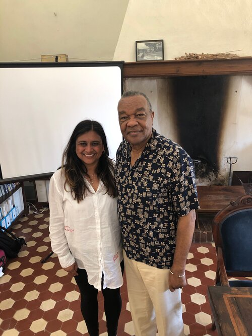 The author and David C. Driskell