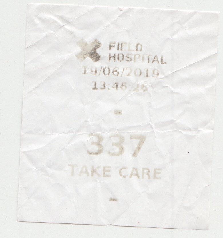 Field Hospital X Ticket stub