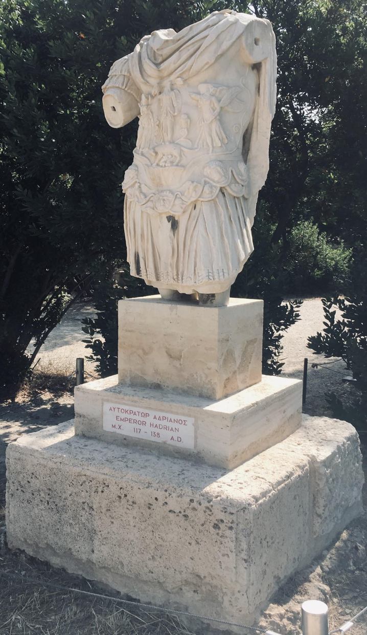 (Fig 1.) Emperor Hadrian (117-138A.D.) Photo: Cj Stephens in the Agora, June 2019