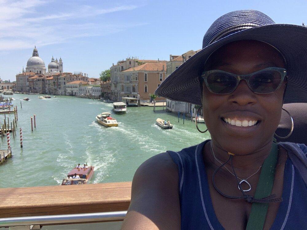 Kimberly Wade in Venice with IDSVA. June 2019. Photo courtesy of Kimberly Wade