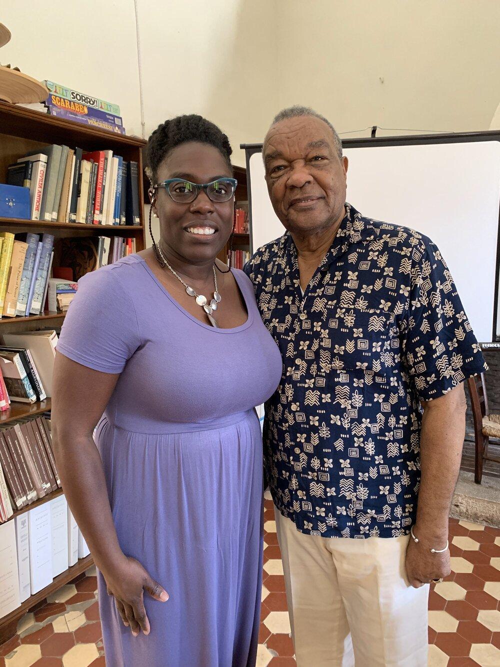 Kimberly Wade with David C. Driskell at Spannocchia. June 2019. Photo courtesy of Kimberly Wade