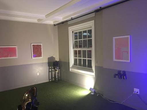 Photograph of a showroom and art at Felix LA, Feb. 2019. Photo by Emel Thomson