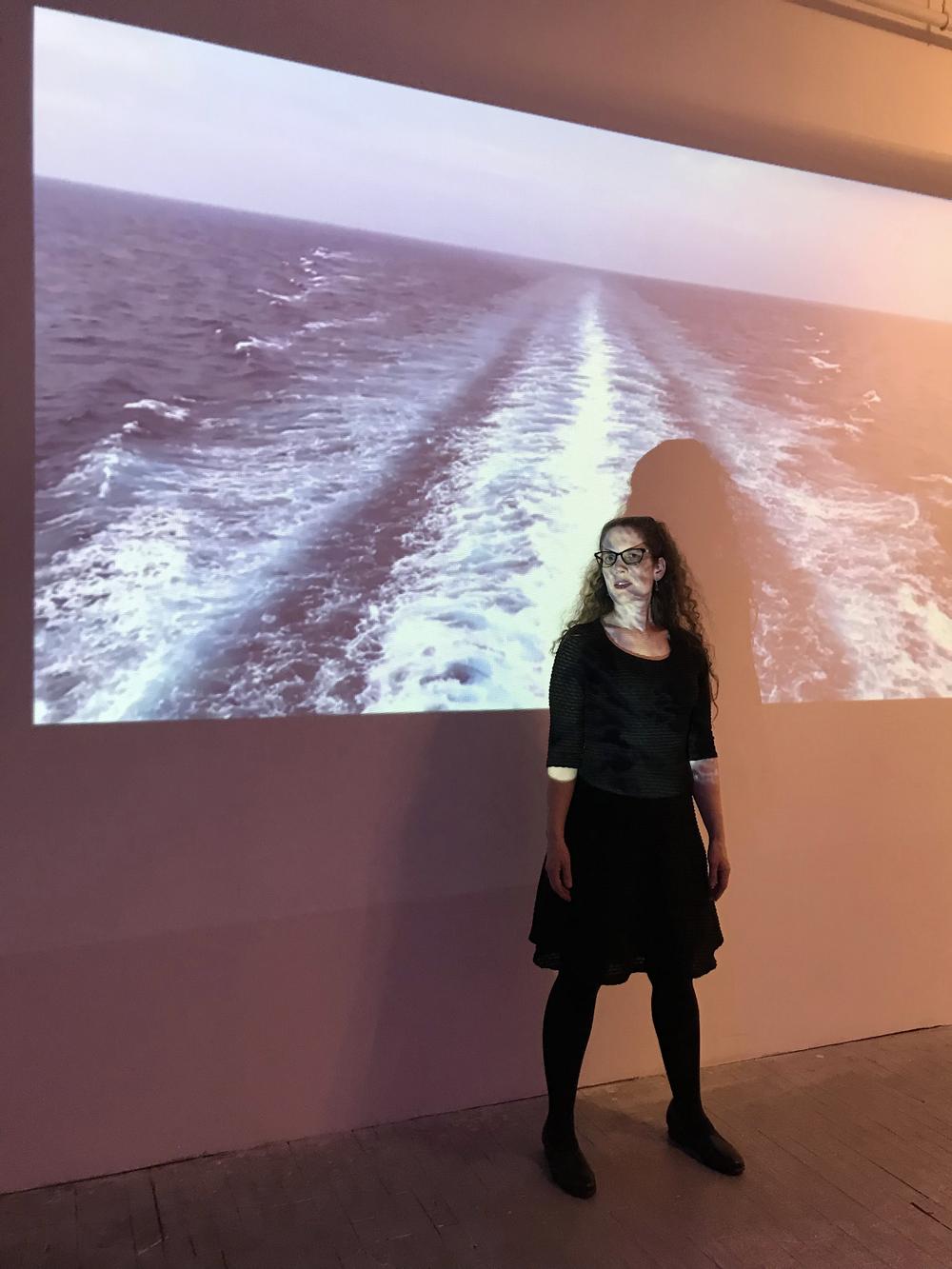 Sam Jones, with Wake, video installation