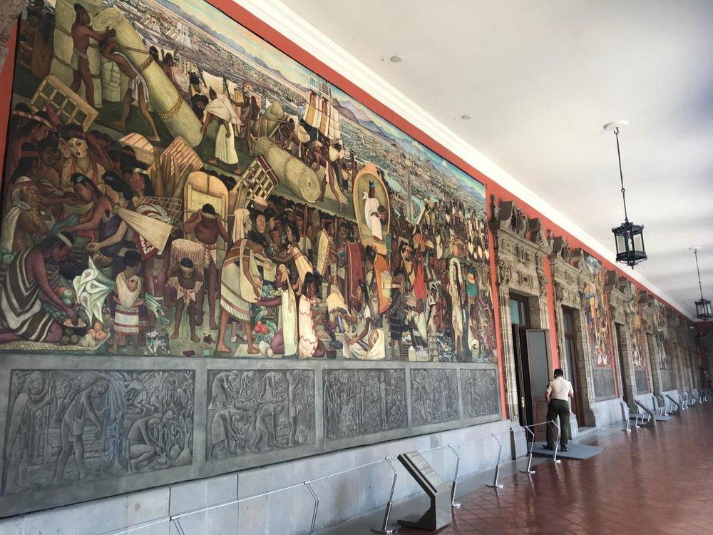 El México Antiguo , Diego Rivera, 1929, fresco on wall, 65.44 m2. Photo by Jeca Rodríguez-Colón