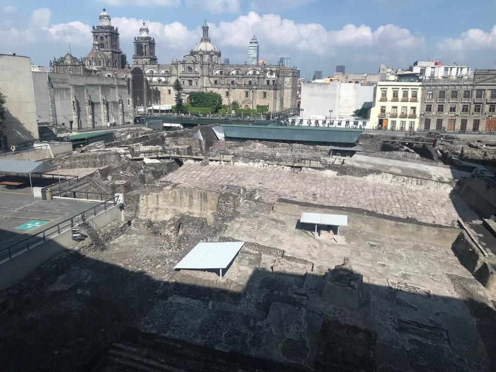 Archeological site at Museo del Templo Mayor. Photo by Jeca Rodríguez-Colón.
