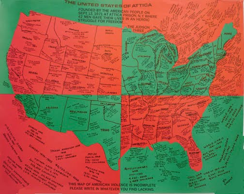 Faith Ringgold, United States of Attica, offset lithograph on paper. Image Credit:http://billops-hatch.library.emory.edu/camille-billops-activist.html
