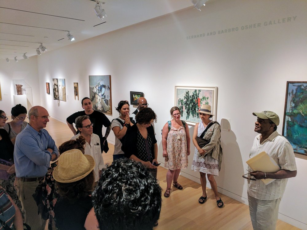 Dr. Driskell and IDSVA students discuss his work and Black Aesthetics, 2017 Photo Credit: Jonathan Morgan