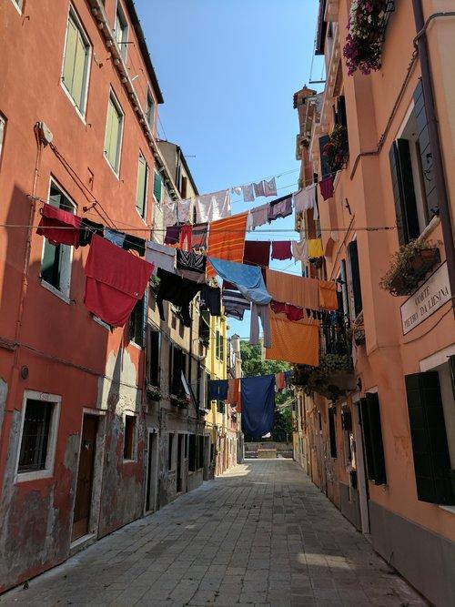 View of a Venetian Alley near Giardini della Biennale Photo Credit: Jonathan Morgan