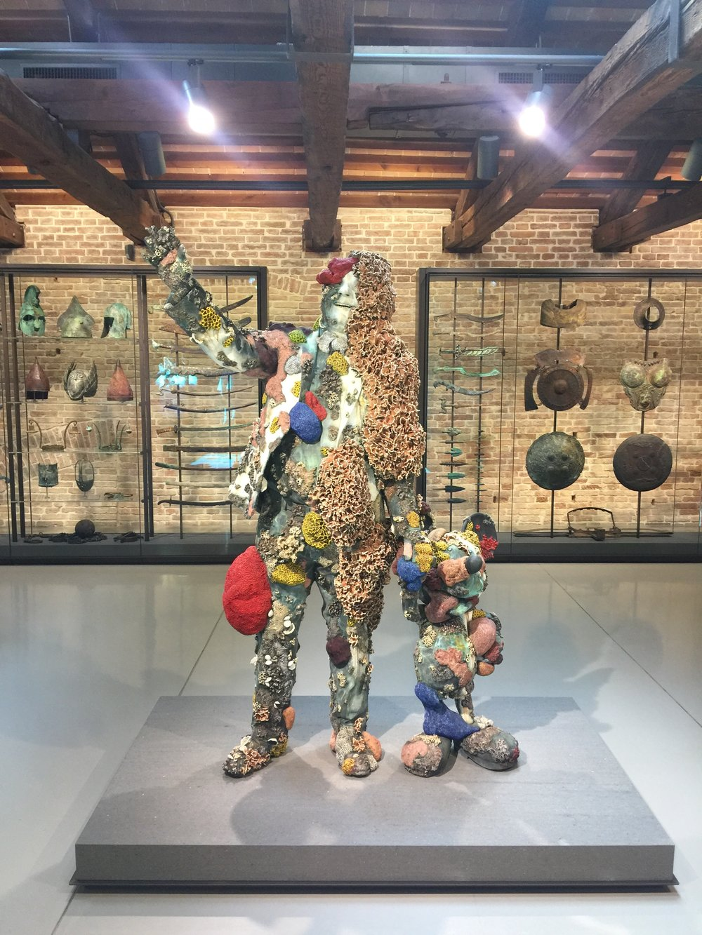 """""""The Collector with Friend"""" by Damien Hirst, 2017 Photo Credit: Nicolas Tanner"""