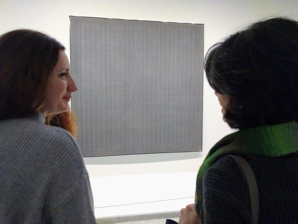 IDSVA student Erin Gleason with Nancy Princenthal, Guggenheim, 2017. Photo by Jonathan Morgan