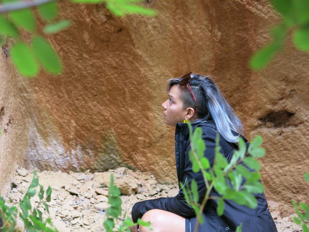 IDSVA student at Bibemus Quarry, Aix-en-Provence. Photo by Gabriel Reed.