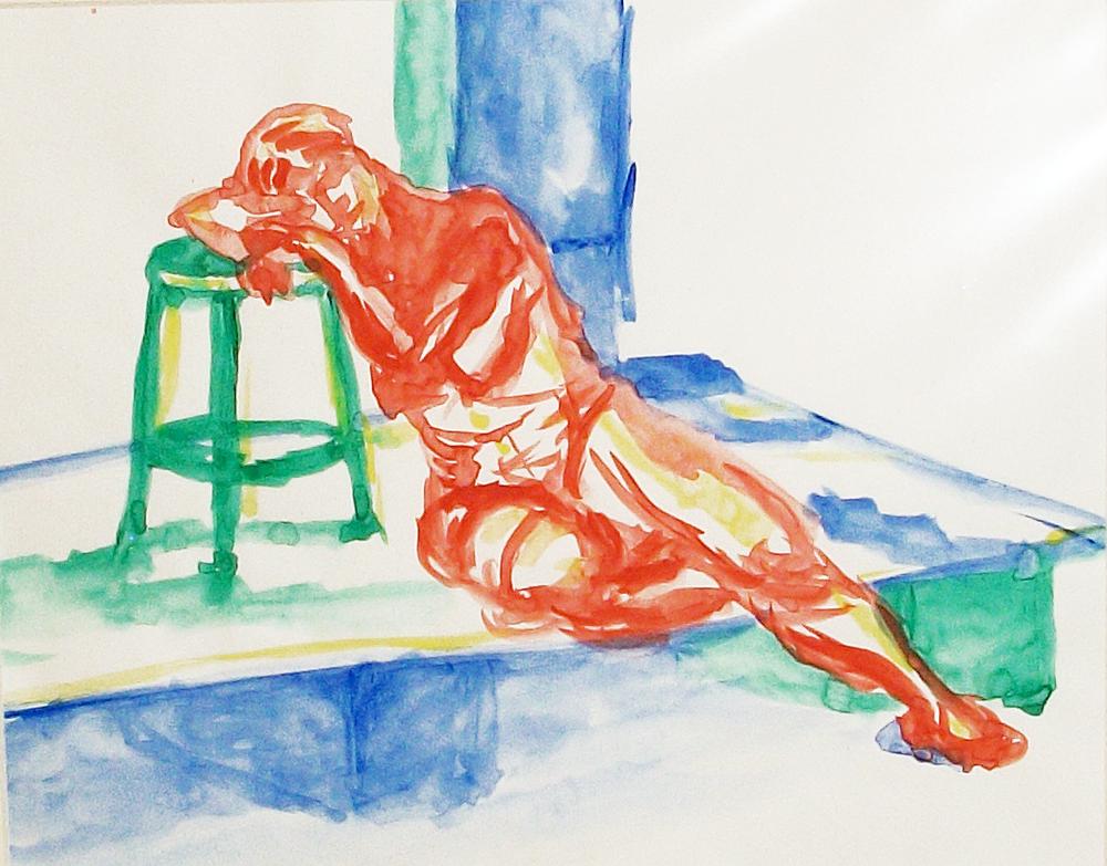"""Watercolor sketch , 8""""x10"""", 1986"""