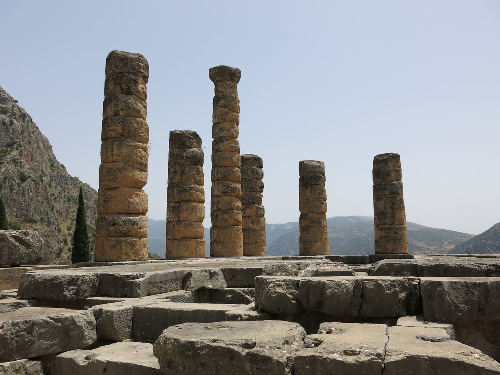 Delphi ruins. Photo by Gabriel Reed.