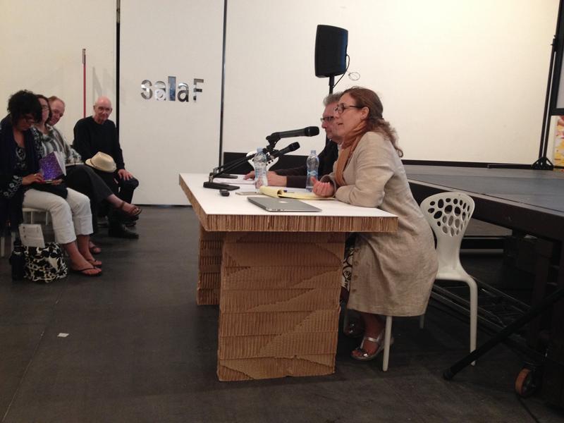 John Rajchman and Giovanna Borradori speaking at the Biennale Sessions, Venice, Spring 2015