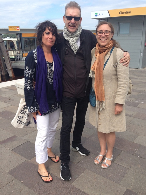 Taliesin Thomas, John Rajchman and Giovanna Borradori in Venice, Spring 2015