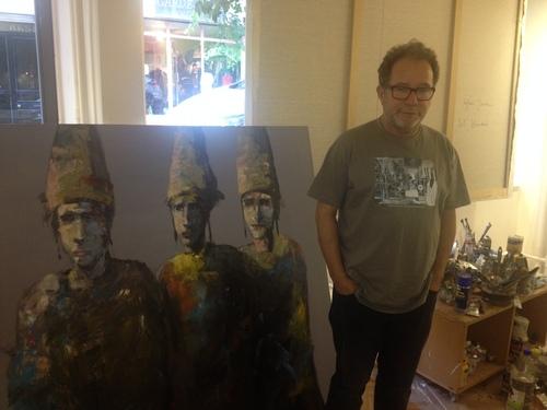 Irfan Yavru in his studio, Istanbul 2015