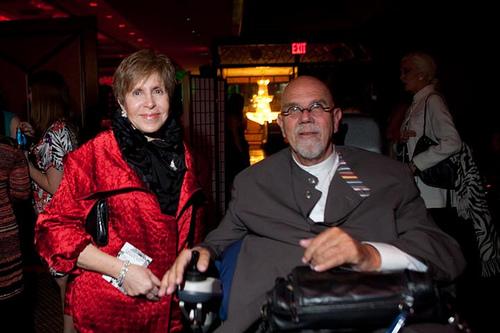 Mildred Glimcher and Chuck Close